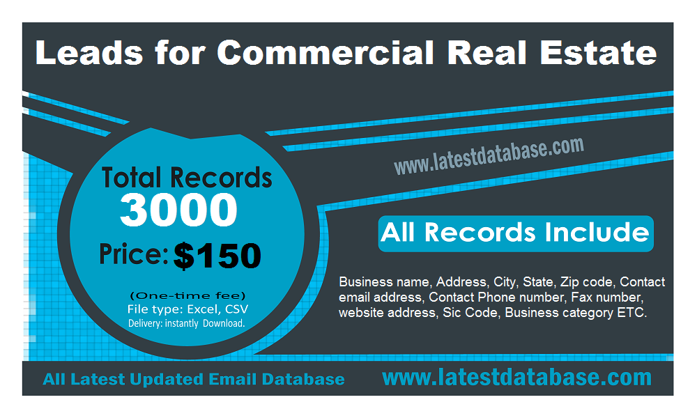 Commercial Real Estate Email List