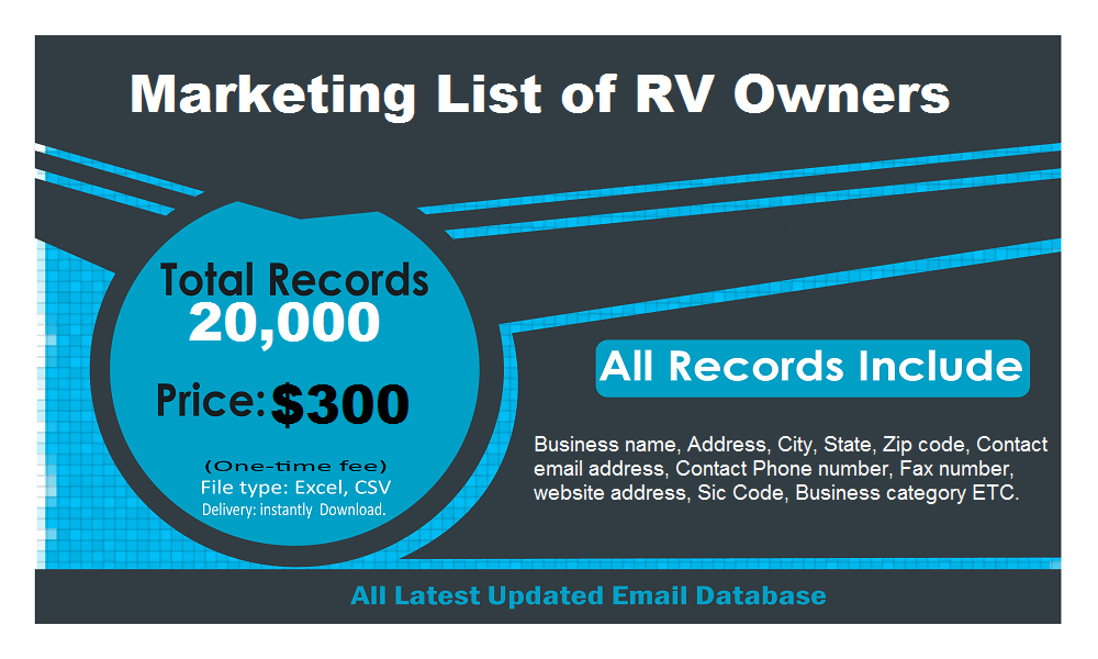 RV Owners Email List