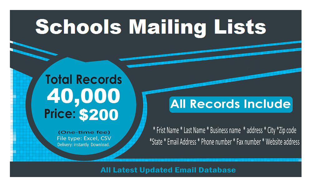 Schools Email List
